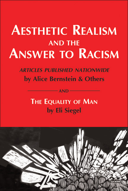"Book cover ""Aesthetic Realism and the Answer to Racism"